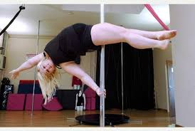 Emma Haslam pole dance